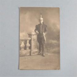 PHOTO CPA D'UN CAVALIER DU 6 ème REGIMENT DE CUIRASSIERS CARTE LETTRE DATEE TRELAZE 1915 AVEC SA CORRESPONDANCE