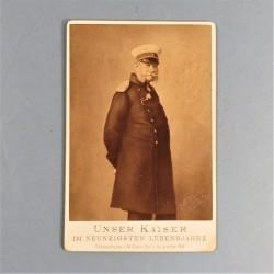 PHOTO CARTONNEE ALLEMANDE UNSER KAISER IM NEUNZIGSTEN LEBENSJAHRE EMPEREUR GUILLAUME II 1859 1941