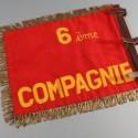 FANION DE LA 6 eme COMPAGNIE DU 81 ème RIA REGIMENT D'INFANTERIE ALPINE ANNEES 1950 1960