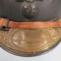 CASQUE ADRIAN MODELE 1915 INFANTERIE CAVALERIE LEGION COMPLET GUERRE 1914-1918 AVEC PLAQUE NOMINATIVE D'UN POILU