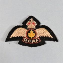 BREVET DE PILOTE CANADIEN AU SERVICE DES NATIONS UNIES RCAF ROYAL CANADIAN AIR FORCE NATO SERVICE PILOT'S BADGE 1848 -1953