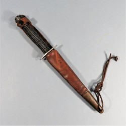COUTEAU DE COMBAT POIGNARD LE COMMANDO INOX SUPER-NOGENT PARACHUTISTE COMMANDOS LEGION ETRANGERE FIGHT KNIFE