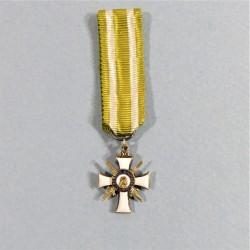 ALLEMAGNE SAXE REDUCTION MEDAILLE DE CHEVALIER DE L'ORDRE DE ALBERT LE VALEUREUX A TITRE MILITAIRE ALBERTUS ANIMOSUS 1850 °