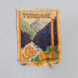 INSIGNE TISSU CHANTIERS DE JEUNESSE CJF GROUPEMENT 20 TURENNE (AUVERGNE)