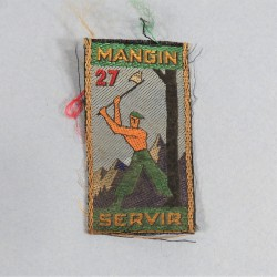 INSIGNE TISSU CHANTIERS DE JEUNESSE CJF GROUPEMENT 27 MANGIN SERVIR (PYRENEES GASCOGNE)