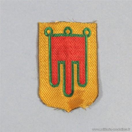 INSIGNE TISSU CHANTIERS DE JEUNESSE CJF COMMISSARIAT REGIONAL AUVERGNE