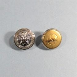 BOUTON SAPEURS POMPIERS DEMI-GRELOT AU BUCHER COULEUR ARGENT DIAMETRE 1.6 cm NEUF FABRICATION ACTUELLE