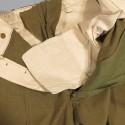 PANTALON US TROUPE MOUTARDE MODELE 1937 ETIQUETTE DATEE 1942 TAILLE 82 cm UNIFORME GI DEBARQUEMENT