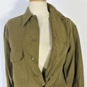 CHEMISE AMERICAINE US TROUPE MODELE 1937 BON ETAT RABAT ANTIGAZ COUPE TAILLE 15.1/2 32 MILITARIA WW2
