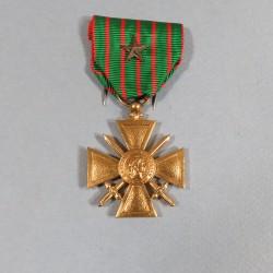 CROIX DE GUERRE 1914-1918 AVEC 1 ETOILE POUR CITATION A L'ORDRE DU REGIMENT WW1 FRENCH WAR CROSS FABRICATION MODERNE