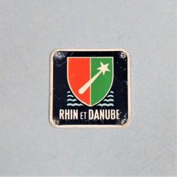 PETITE PLAQUE OU PETIT INSIGNE METALIQUE 1 ere ARMEE RHIN DANUBE LIBERATION 1944-1945 TOA ALLEMAGNE