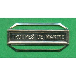 BARRETTE TROUPES DE MARINE POUR LA MEDAILLE DE LA DEFENSE NATIONALE